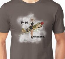 P-40 Pin Up Art Unisex T-Shirt