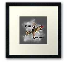 P-40 Pin Up Art Framed Print