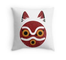 Mononoke Mask Throw Pillow