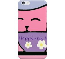 Cat Drinking Tea the Purrfect Cuppa iPhone Case/Skin