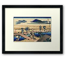 Nakahara in the Sagami province - Hokusai - Views of Mount Fuji Print Framed Print