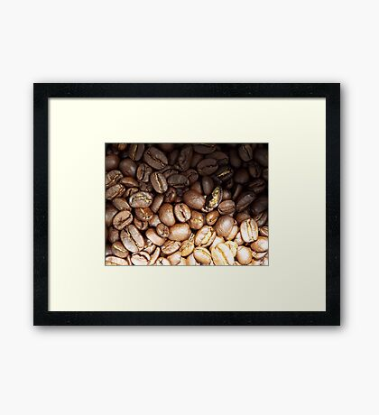 coffee beans colour  Framed Print