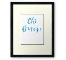 Chi Omega Framed Print