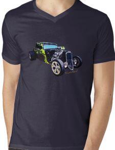 1934 Ford Three Window Coupe Hot Rod T-Shirt Mens V-Neck T-Shirt
