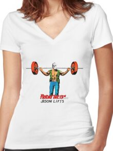 Gym Time Jason Women's Fitted V-Neck T-Shirt