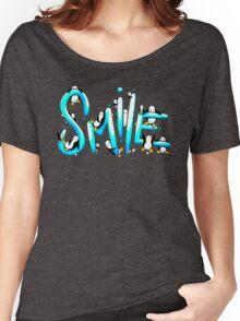 Smile Penguin Women's Relaxed Fit T-Shirt