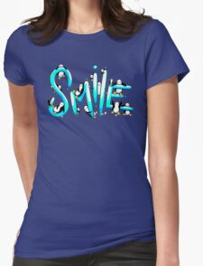 Smile Penguin Womens Fitted T-Shirt