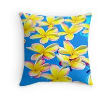 Floating Plumerias Throw Pillow