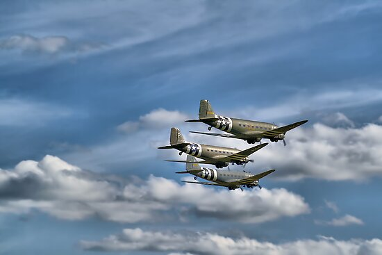 D Day 70 Years On !! - HDR - Duxford 2014 by Colin J Williams Photography
