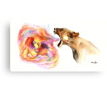 Lioness' Fury Canvas Print