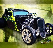1934 Ford Three Window Coupe Hot Rod by ChasSinklier