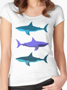 Sharks! Women's Fitted Scoop T-Shirt