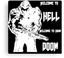 Doom 4 (white) Canvas Print