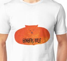 Gingers Rule Funny Orange Cartoon Cat Unisex T-Shirt