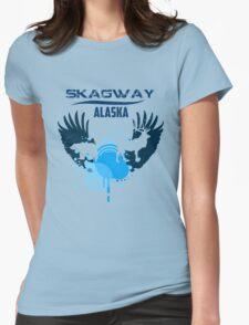 Skagway Downtown Alaska Womens Fitted T-Shirt