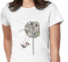 Swinging Womens Fitted T-Shirt