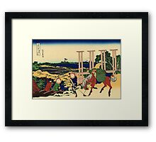 Senju - Hokusai - Views of Mount Fuji Print Framed Print