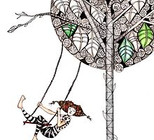 Swinging by Jenny Wood