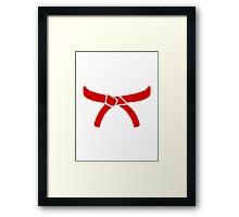 Karate Martial Arts belt Framed Print