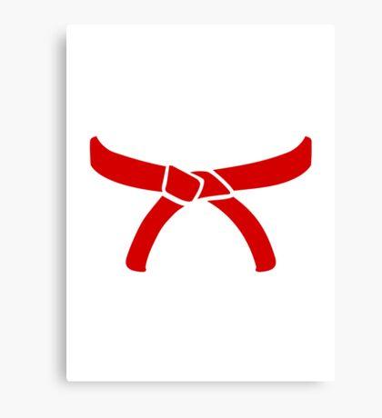 Karate Martial Arts belt Canvas Print