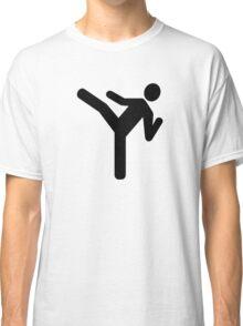 Martial arts kick symbol Classic T-Shirt