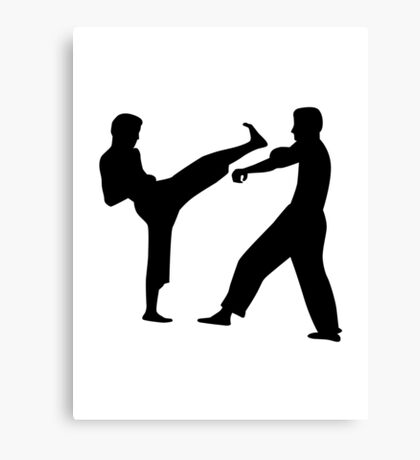 Karate fighters Canvas Print