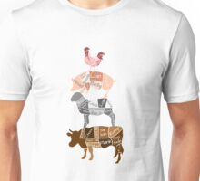 Butcher Diagrams - Labeled - Totem Unisex T-Shirt