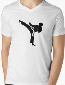 Karate fighter Mens V-Neck T-Shirt