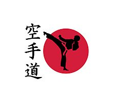 Chinese Karate fighter Photographic Print