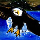 Bald eagle tote bag by Brent Fennell