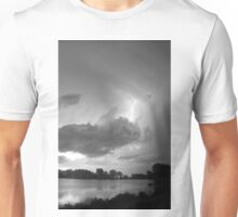 Lake Thunder Cell Lightning Burst BW Unisex T-Shirt
