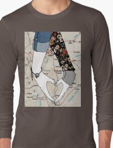 My Heart Is Bigger Than The Distance In Between Us Long Sleeve T-Shirt