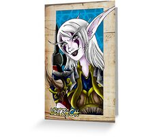 Night Elf Warrior Greeting Card