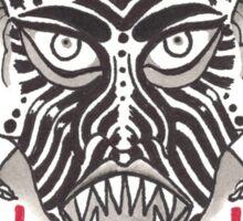 DEVIL HORNS WHT Sticker
