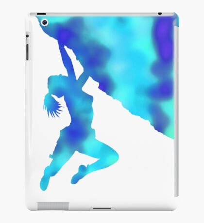 bouldering ecstacy (blue) iPad Case/Skin