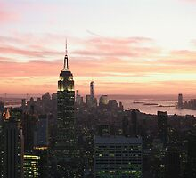 NYC sunset by Louise Bichan