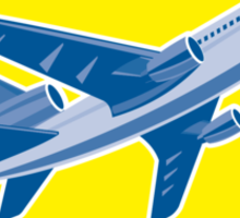 Commercial Airplane Jet Plane Airline Retro Sticker