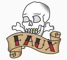 Skull&Bones FAUX banner. Kids Tee
