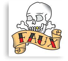 Skull&Bones FAUX banner. Canvas Print