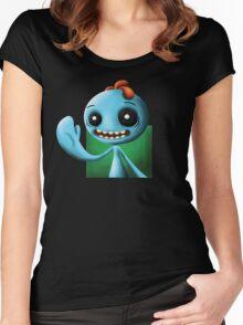 Meeseeks Portrait Women's Fitted Scoop T-Shirt