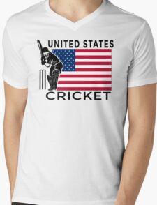 United States Cricket Mens V-Neck T-Shirt