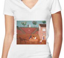 Savannah Georgia 1817 Women's Fitted V-Neck T-Shirt