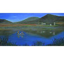 Fishing at Rose Valley Lake Photographic Print