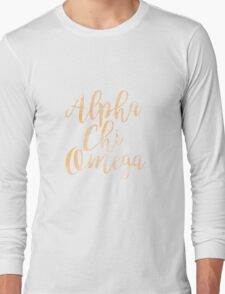 axo alpha chi omega sorority sticker greek watercolor Long Sleeve T-Shirt