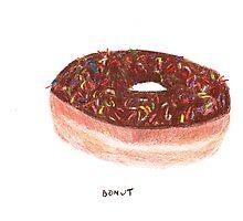Chocolate With Rainbow Sprinkles Donut Photographic Print