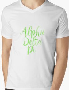 adpi alpha delta pi sorority sticker greek watercolor Mens V-Neck T-Shirt