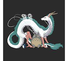 Haku, Totoro, and Tree Spirits  Photographic Print