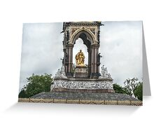 The Lower Portion of the Albert Memorial Greeting Card