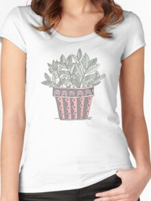 Potted Plant Women's Fitted Scoop T-Shirt