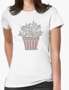 Potted Plant Womens Fitted T-Shirt